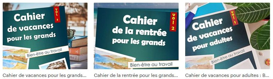 Cahiers de vacances pour adultes bien-être au travail zouzen.fr